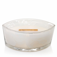 Amber & Incense First Frost Gloss Glass Ellipse WoodWick Candle