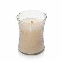 Amber & Incense First Frost Hammered Medium Hourglass WoodWick Candle