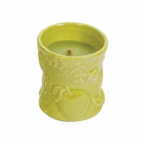 CLOSEOUT - Apple Basket Ceramic Hourglass WoodWick Candle