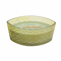 NEW! - Apple Basket Etched Ellipse WoodWick Candle with HearthWick Flame