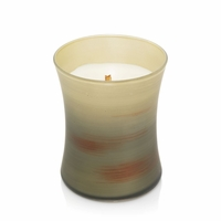 CLOSEOUT - Apple Basket Painted Medium Hourglass WoodWick Candle
