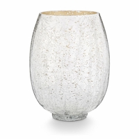 CLOSEOUT - Balsam & Cedar Large Crackle Glass Illume Candle