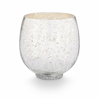 CLOSEOUT - Balsam & Cedar Small Crackle Glass Illume Candle