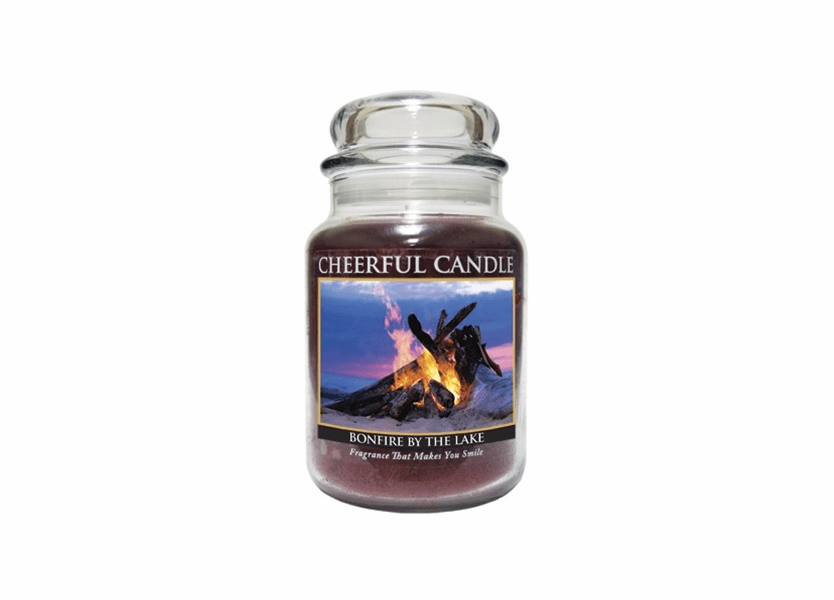 Bonfire By The Lake 24 oz. Cheerful Candle by A Cheerful Giver