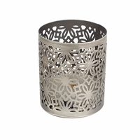 Brushed Nickel Petite Holder WoodWick Candle