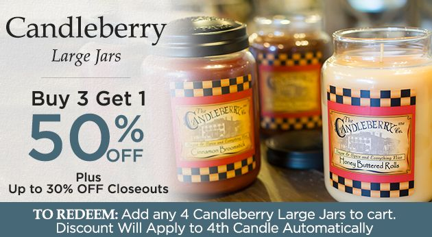 Large Jar Candles by Candleberry