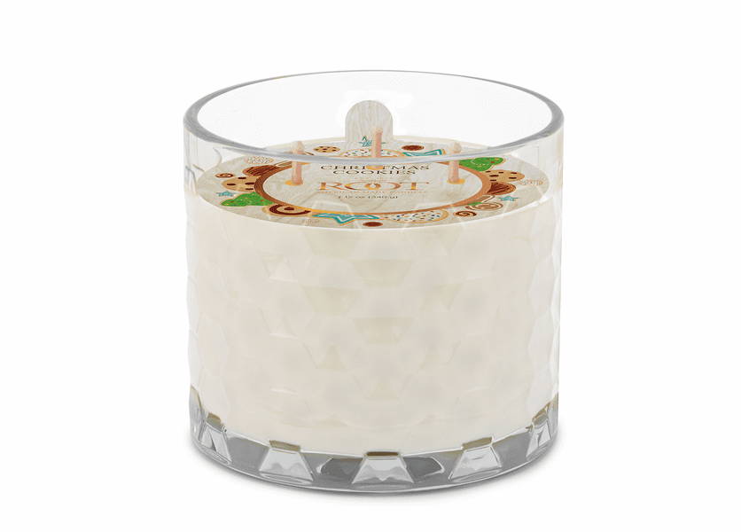 Christmas Cookie 3-Wick Honeycomb Holiday Glass Candle by Root