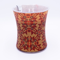CLOSEOUT - Cinnamon Chai Decal Glass WoodWick Candle