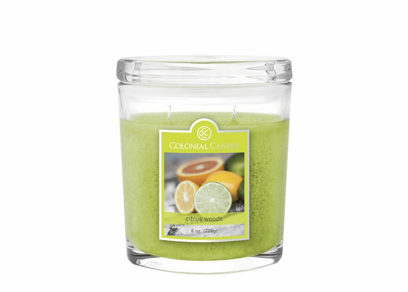 Citrus Woods 8 oz. Oval Jar Colonial Candle