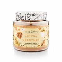 CLOSEOUT - Autumn Chestnut 15.5 oz. Large Jar Candle by Tried & True