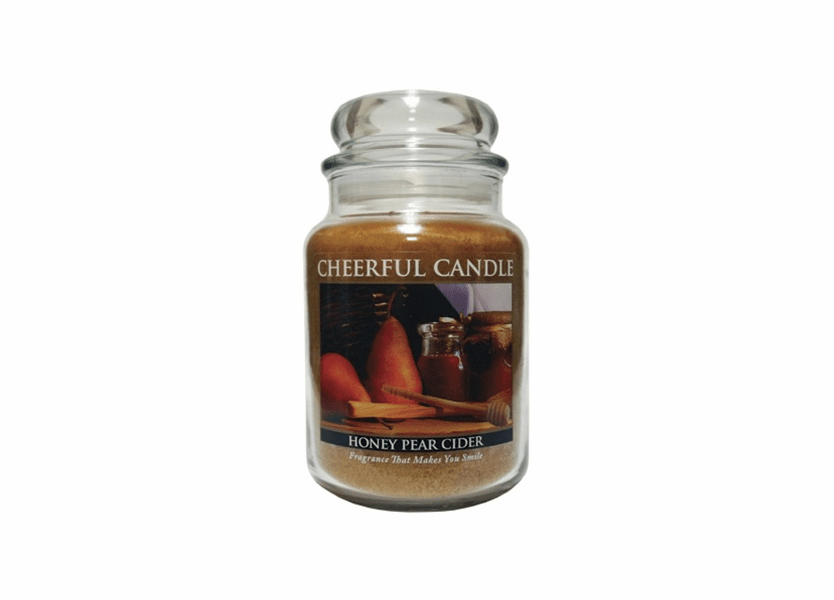 _DISCONTINUED_Honey Pear Cider 24 oz. Cheerful Candle by A Cheerful Giver