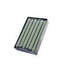 "Colonial Green 10"" Unscented Classic Taper 12-Pack Colonial Candle 