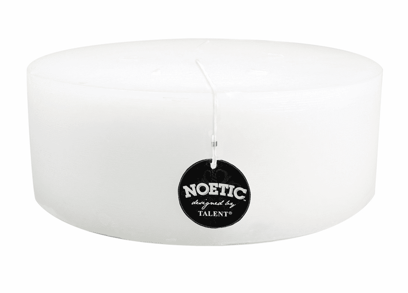 """_DISCONTINUED - 10"""" x 4"""" White Wash Noetic Pillar Candle"""