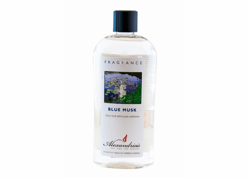 _DISCONTINUED - 16 oz. Blue Musk Alexandria's Fragrance Lamp Oil