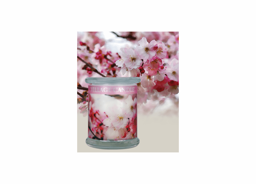 _DISCONTINUED - 21 oz. Cherry Blossom Radiance Wooden Wick  by Village Candle
