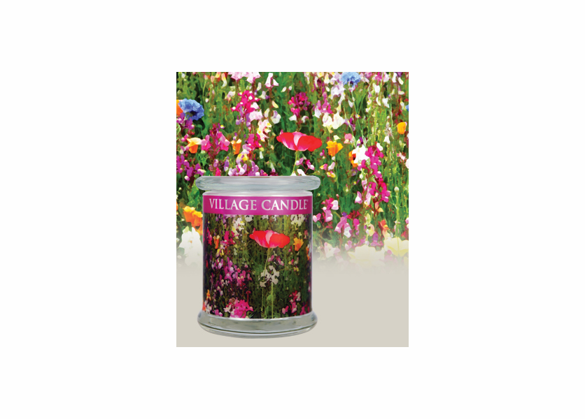 _DISCONTINUED - 21 oz. English Garden Radiance Wooden Wick Village Candle