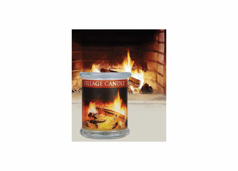 _DISCONTINUED - 21 oz. Fireside Radiance Wooden Wick Village Candle