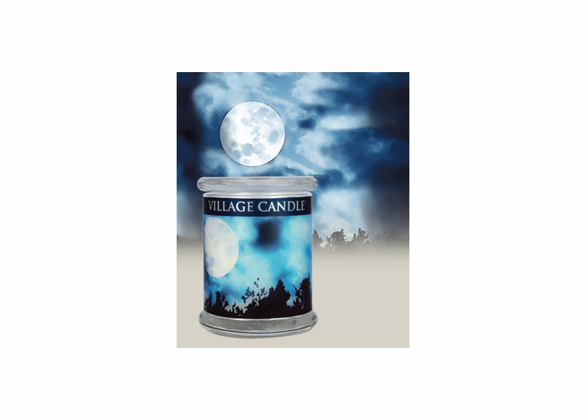 _DISCONTINUED - 21 oz. Moonlight Radiance Wooden Wick Village Candle