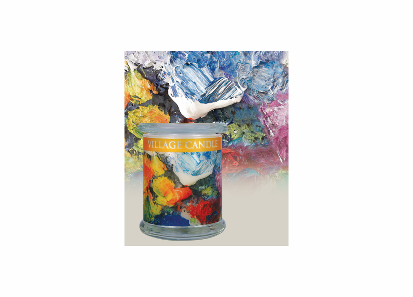 _DISCONTINUED - 21 oz. Rainbow Radiance Wooden Wick Village Candle