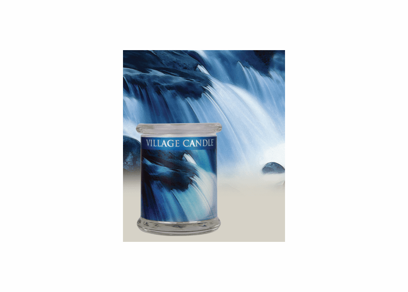 _DISCONTINUED - 21 oz. Waterfall Radiance Wooden Wick Village Candle