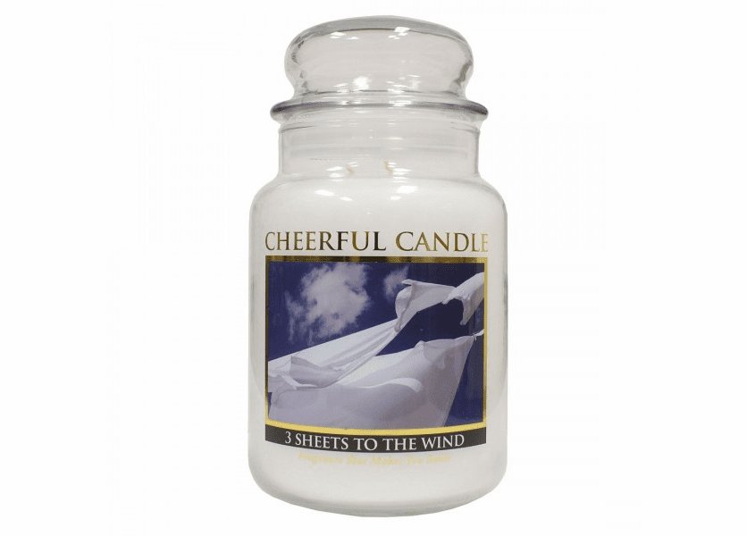 _DISCONTINUED_3 Sheets to the Wind 24 oz. Cheerful Candle by A Cheerful Giver