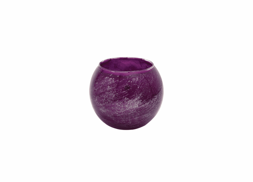 "_DISCONTINUED - 4"" Amethyst Galaxy Polished Globe Candle"