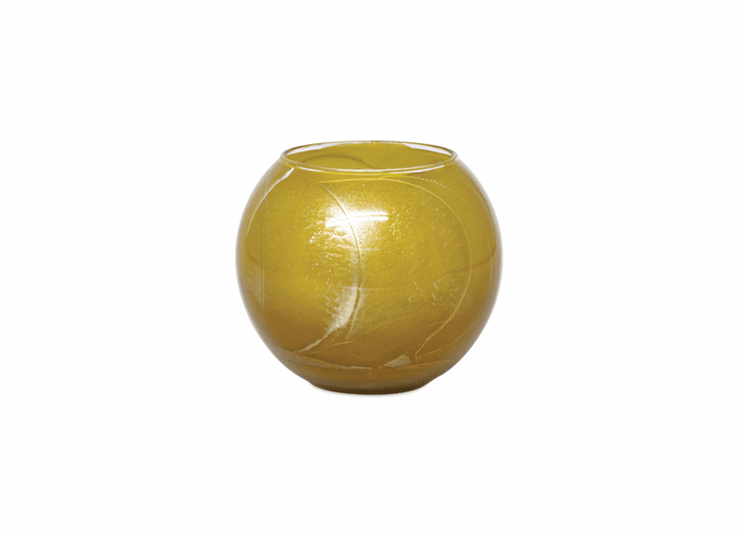 "_DISCONTINUED - 4"" Caramel Esque Polished Globe Candle-"