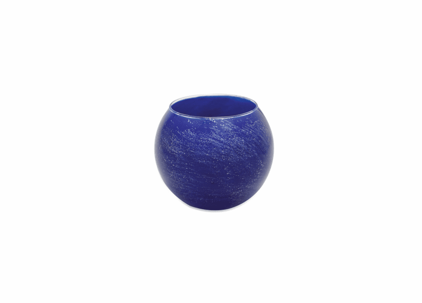 """_DISCONTINUED - 4"""" Cobalt Galaxy Polished Globe Candle"""