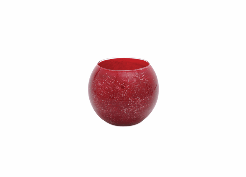 "_DISCONTINUED - 4"" Cranberry Galaxy Polished Globe Candle"