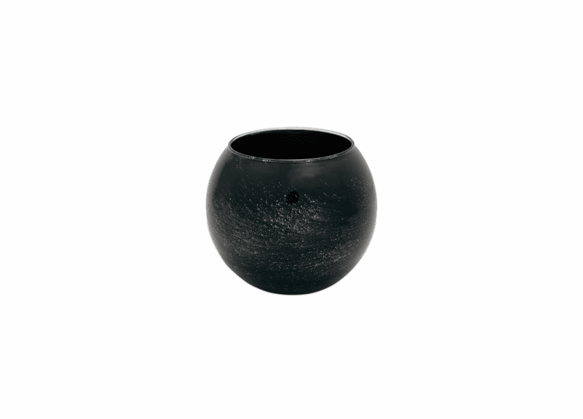 "_DISCONTINUED - 4"" Ebony Galaxy Polished Globe Candle"
