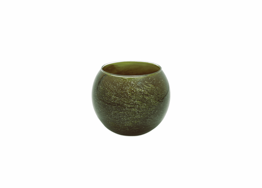 """_DISCONTINUED - 4"""" Olive Galaxy Polished Globe Candle"""