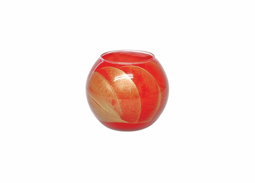"_DISCONTINUED - 4"" Poppy Esque Polished Globe Candle"
