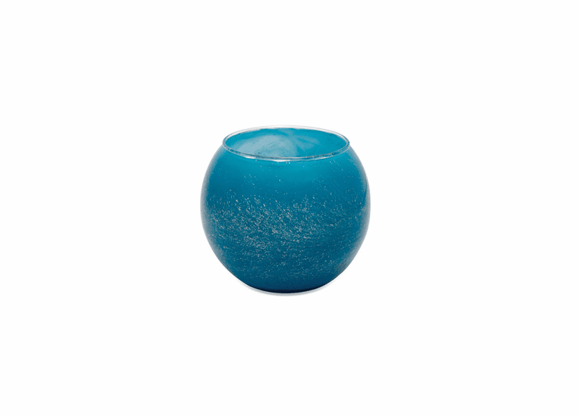 "_DISCONTINUED - 4"" Sky Blue Galaxy Polished Globe Candle"