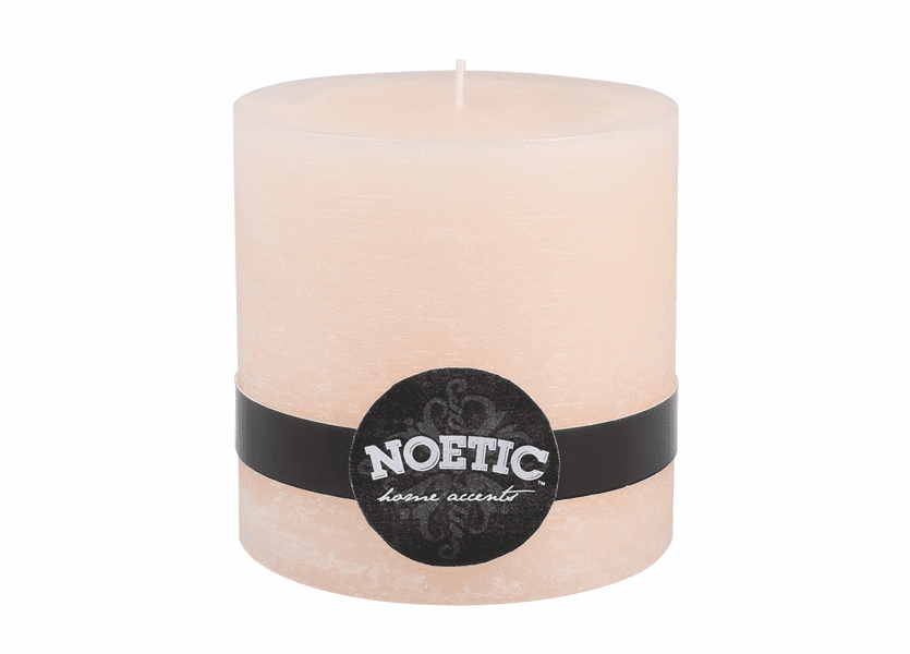 "_DISCONTINUED - 4"" x 4"" Ivory Pearl Noetic Pillar Candle"