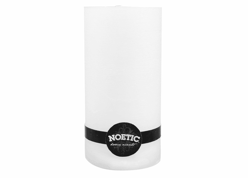 "_DISCONTINUED - 4"" x 8"" White Wash Noetic Pillar Candle"