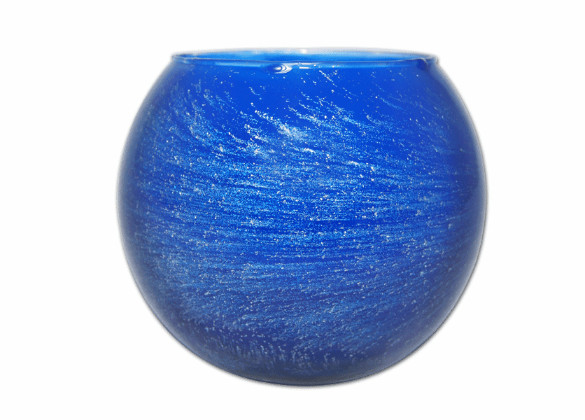 """_DISCONTINUED - 5"""" Cobalt Galaxy Polished Globe Candle"""