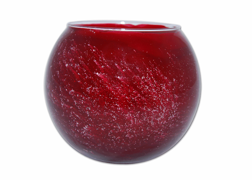 "_DISCONTINUED - 5"" Cranberry Galaxy Polished Globe Candle"
