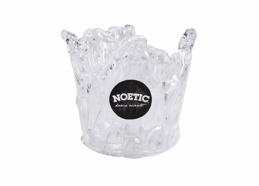 "_DISCONTINUED - 5"" Splash Glass Vase Noetic Candle Holder"