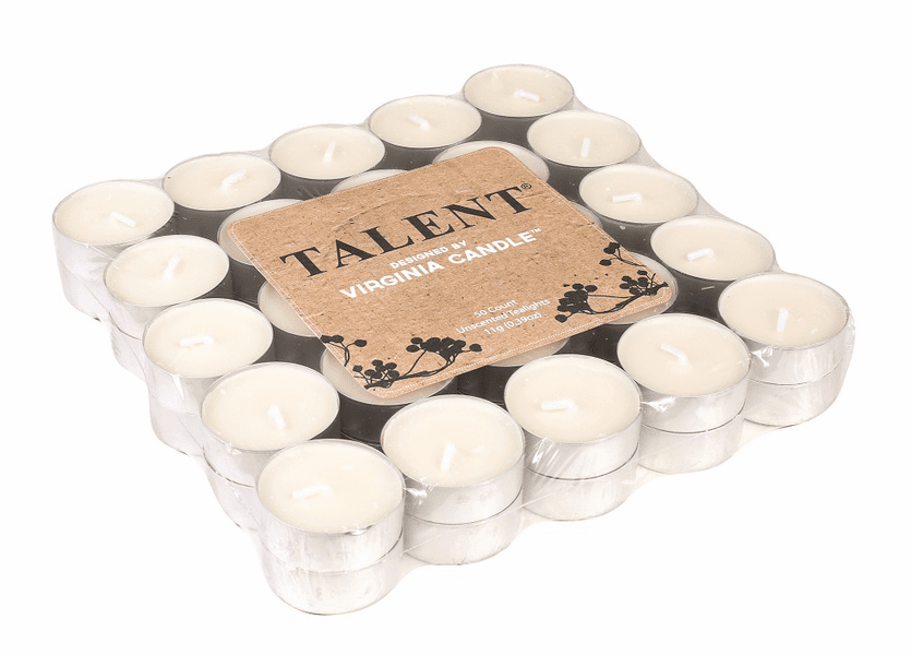 _DISCONTINUED - 50 Pack Unscented Tea Lights by Virginia Gift Brands