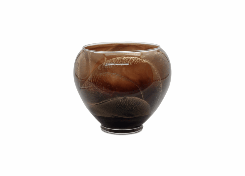 "_DISCONTINUED - 6"" Chocolate Esque Polished Vase Candle"