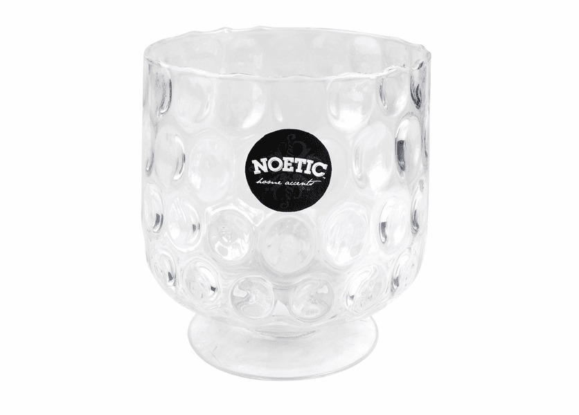 """_DISCONTINUED - 7.25"""" Bubble Glass Hurricane Noetic Candle Holder"""