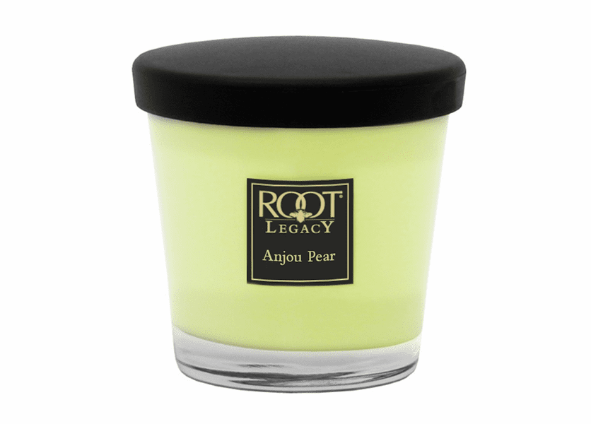 _DISCONTINUED - 7 oz. Anjou Pear Small Veriglass Candle by Root