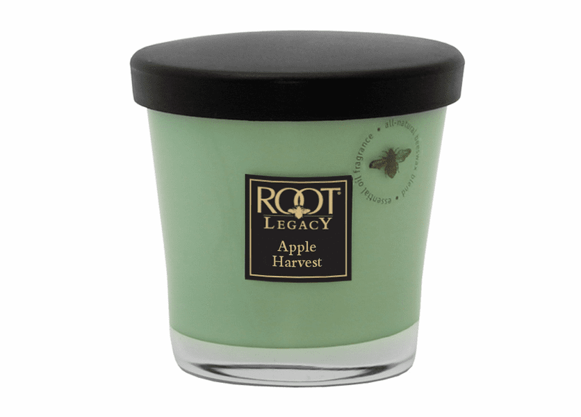 _DISCONTINUED - 7 oz. Apple Harvest Small Veriglass Candle by Root