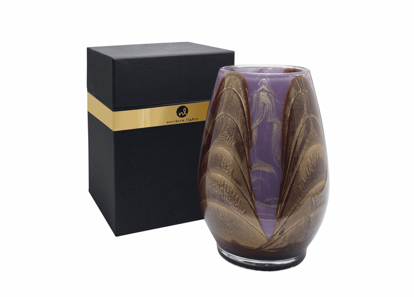 """_DISCONTINUED - 9"""" Chocolate & Lavender Esque Harmony Vase - UNFILLED"""