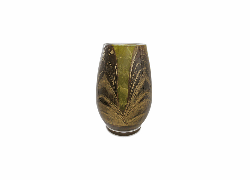 "_DISCONTINUED - 9"" Chocolate & Olive Esque Harmony Vase"