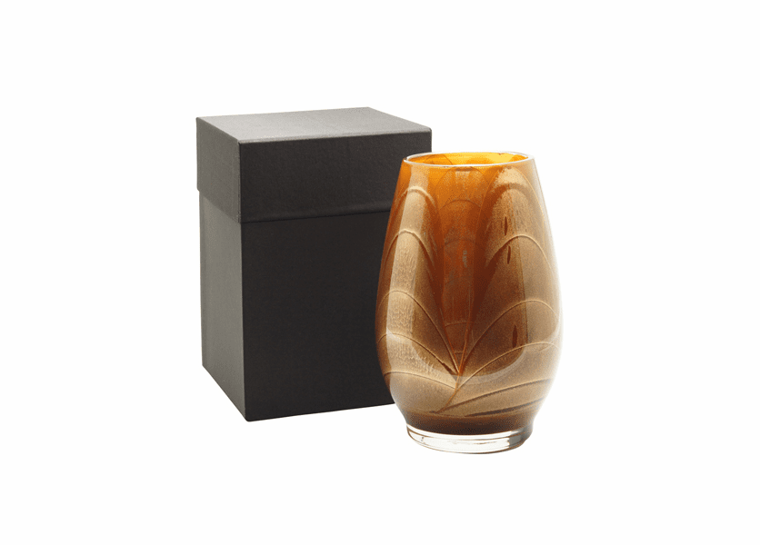 """_DISCONTINUED - 9"""" Mahogany Esque Polished Vase - UNFILLED"""
