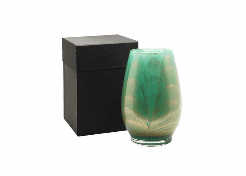 "_DISCONTINUED - 9"" Sea Foam Esque Polished Vase - UNFILLED"