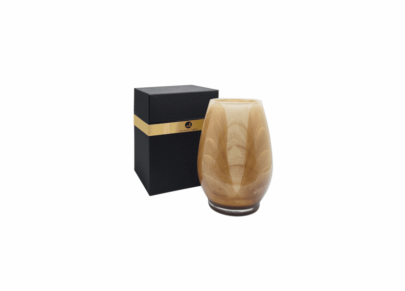 """_DISCONTINUED - 9"""" Taupe & Ivory Esque Harmony Vase - UNFILLED"""
