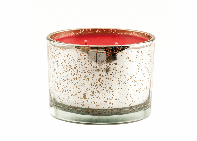 _DISCONTINUED - *A Christmas Tradition 16 oz. Stature Platinum on Gold Reflective Tyler Candle