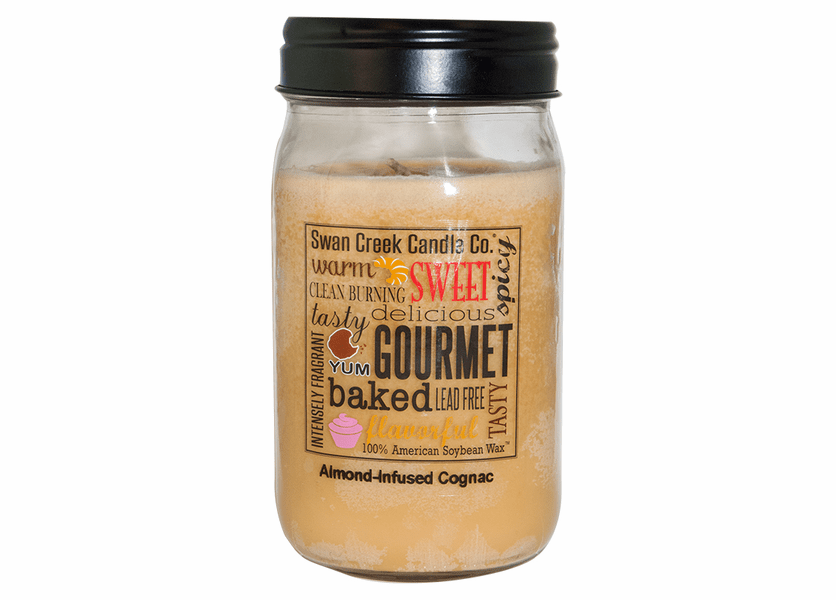 _DISCONTINUED - Almond Infused Cognac 24 oz. Swan Creek Kitchen Pantry Jar Candle
